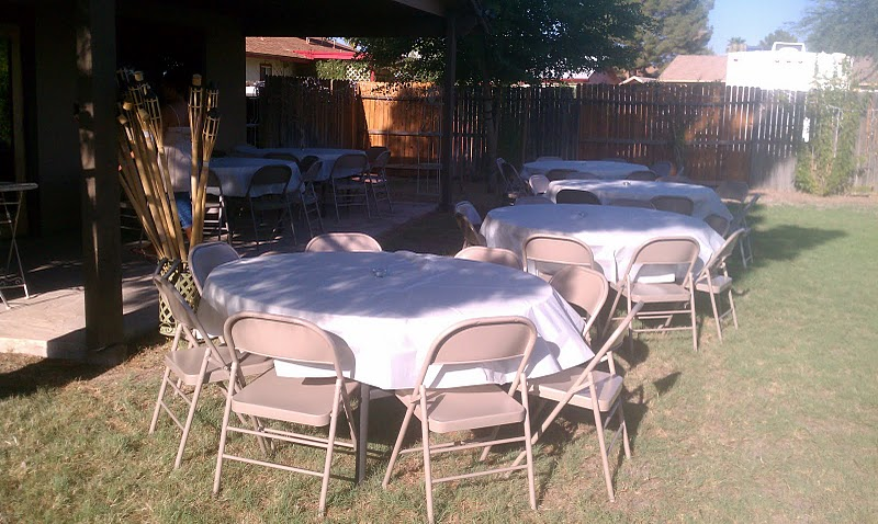 table and chair rentals for a house warming party royalty rentals